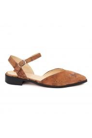 Sandale elegante din piele naturala cu toc mic 5323