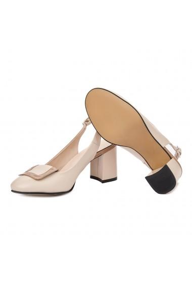 Sandale elegante din piele naturala Nude 5337