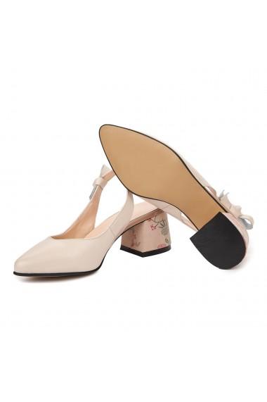 Sandale elegante din piele naturala Nude 5338