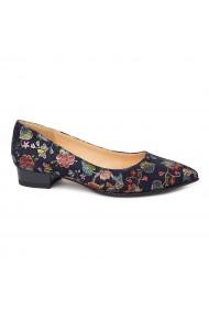 Pantofi dama din piele naturala cu toc mic 4674