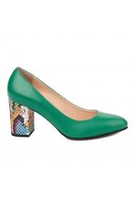 Pantofi dama din piele naturala verde 4716