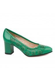 Pantofi dama din piele naturala verde 4717