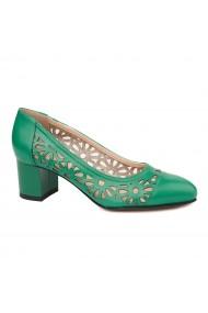 Pantofi dama din piele naturala verde 4718