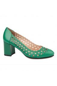 Pantofi dama din piele naturala verde 4719