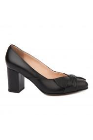 Pantofi dama din piele naturala neagra 4720