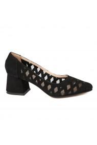 Pantofi dama din piele naturala neagra 4722