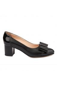 Pantofi dama din piele naturala neagra 4724