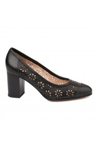 Pantofi dama din piele naturala neagra 4725