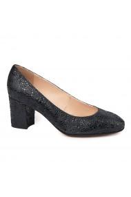 Pantofi dama din piele naturala neagra 4729