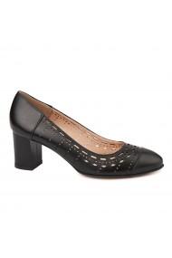 Pantofi dama din piele naturala neagra 4730