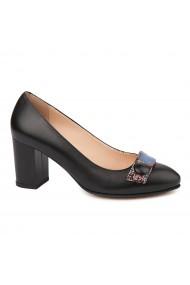 Pantofi dama din piele naturala neagra 4731