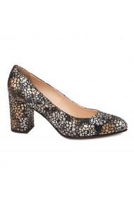 Pantofi dama din piele naturala multicolora 4732