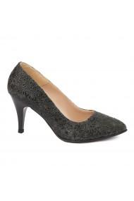 Pantofi dama toc subtire din piele naturala 4826