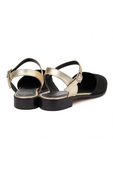 Sandale elegante din piele naturala cu toc mic 5373