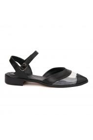 Sandale elegante din piele naturala cu toc mic 5374