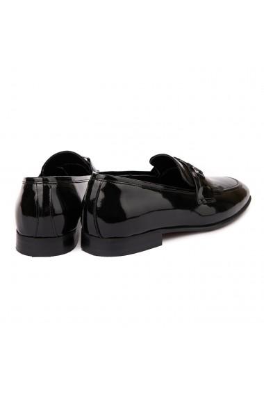 Mocasini eleganti din piele naturala Neagra 7014