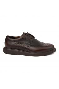 Pantofi sport casual din piele naturala maro 0237