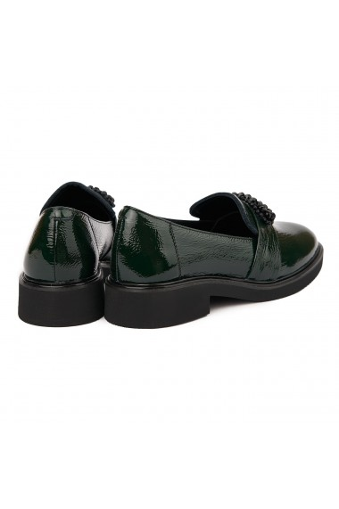 Pantofi Dama Din Piele Naturala Verde Fara Siret 1750