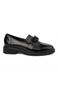 Pantofi Dama Din Piele Naturala Neagra Fara Siret 1752