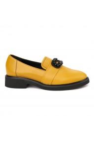 Pantofi Dama Din Piele Naturala Galbena Fara Siret 1753