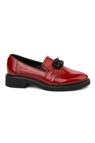 Pantofi Dama Din Piele Naturala Rosie Fara Siret 1756
