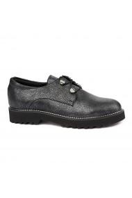 Pantofi Piele Naturala neagra 1757