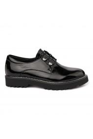 Pantofi Piele Naturala neagra 1759
