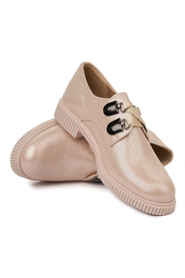 Pantofi Piele Naturala Bej sidef 1820