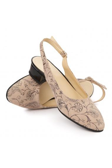 Sandale Elegante Din Piele Naturala Cu Toc Mic 5382