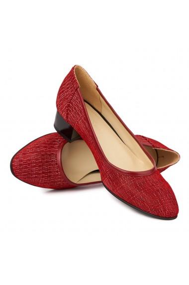 Pantofi Cu Toc Mic Din Piele Naturala 4843
