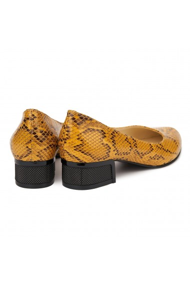 Pantofi Cu Toc Mic Din Piele Naturala 4845