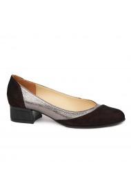 Pantofi Cu Toc Mic Din Piele Naturala 4850