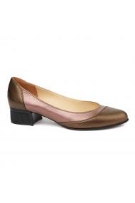 Pantofi Cu Toc Mic Din Piele Naturala 4853