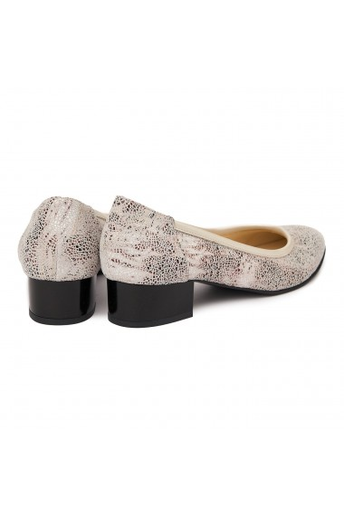 Pantofi Cu Toc Mic Din Piele Naturala 4856