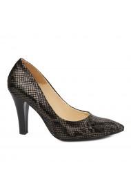 Pantofi dama din piele naturala cu toc 4859