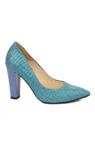 Pantofi dama din piele naturala cu toc 4862