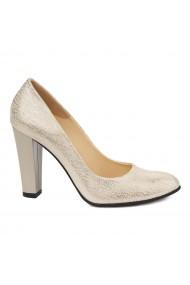 Pantofi dama din piele naturala cu toc 4864