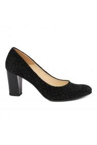 Pantofi dama din piele naturala cu toc 4866