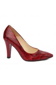 Pantofi dama din piele naturala cu toc 4867