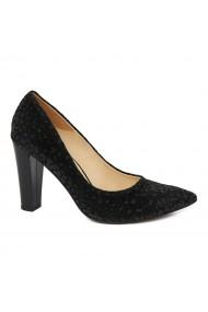 Pantofi dama din piele naturala cu toc 4869
