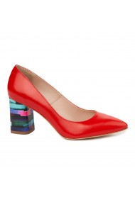 Pantofi Dama Rosii Din Piele Naturala 4892