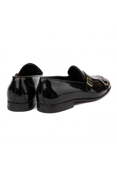 Mocasini eleganti din piele naturala Neagra 7011