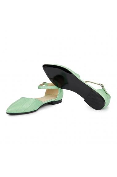 Sandale dama din piele naturala cu toc mic 5399