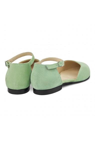 Sandale dama din piele naturala cu toc mic 5401