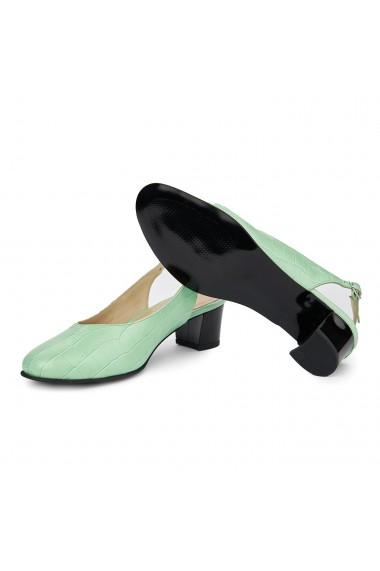 Sandale elegante din piele naturala cu toc gros 5409