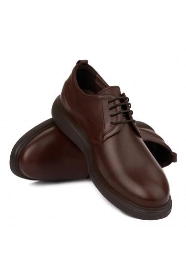 Pantofi sport casual din piele naturala neagra 7032