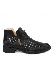 Pantofi Piele Naturala neagra 1845