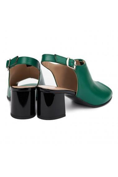 Sandale elegante din piele naturala verde 5410
