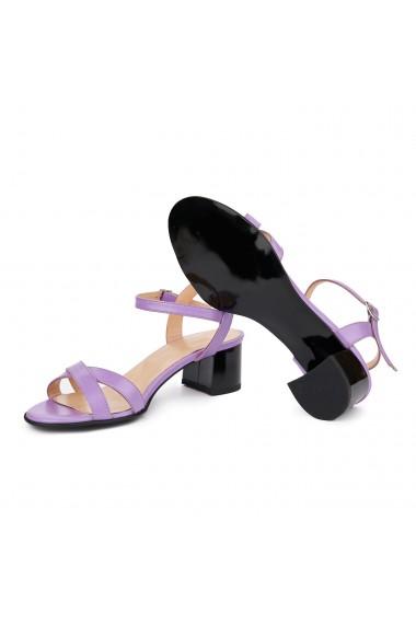 Sandale dama din piele naturala mov 5414