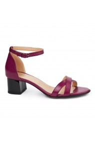 Sandale dama din piele naturala mov 5416